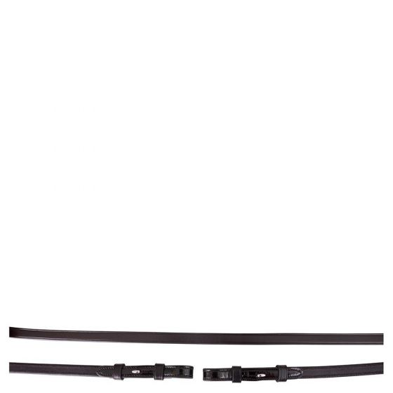 BR Leather bar reins with patent leather closed 13mm blind