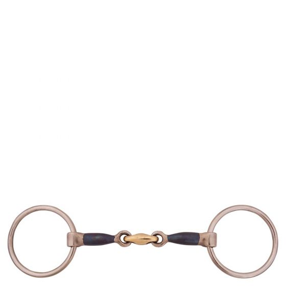 BR Double Broken Loose Ring Snaffle Sweet Iron 13 mm