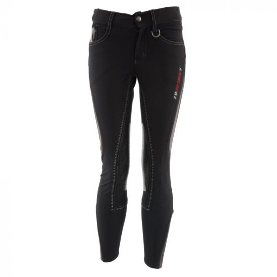 BR Riding breeches Mika children microfiber seat with silicone knee patches
