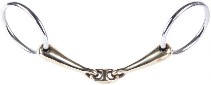 Harry's Horse Flat bartack gold brass oval link 16mm