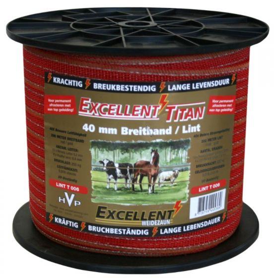Hofman Ribbon Excellent Titanium 200 m / 40 mm Red / Gold