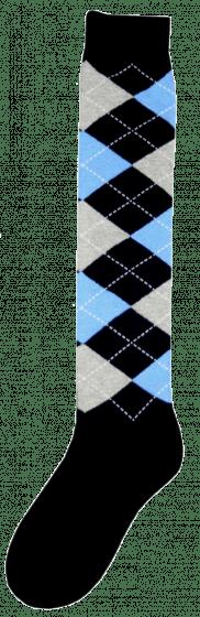 Excellent Knee socks RE d.blue / gray / blue 43-46