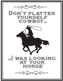 QHP Text Sign 'Cowboy'