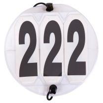 Start numbers Round white