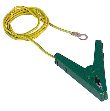 Hofman Grounding connection cable EC clamps green