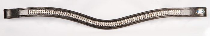 Harry's Horse Browband crystal wave silver