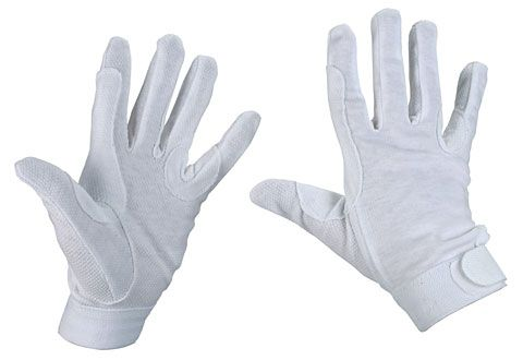 Hofman Riding Gloves Cotton White XL