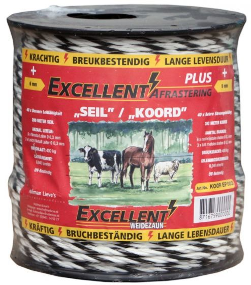 Hofman Cord Excellent Plus 200 m / 6 mm black / white