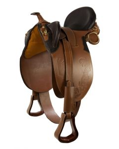 PFIFF western sheepskin sheepskin saddle pad bridoon with horn