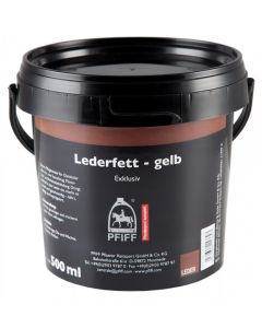 PFIFF Leather fat - yellow