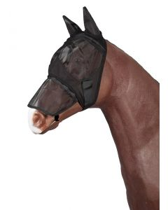 PFIFF Fly mask with detachable nose guard