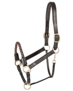 PFIFF Platin leather headcollar 'Venzelo'