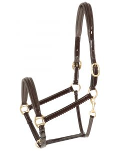 PFIFF platinum, patent leather halter