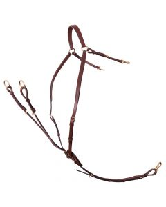 Harness BR Breastplate Rayleigh m / sheepskin saddle pad straps