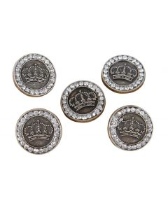 Harry's Horse Buttons crystal crown