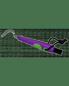 Hofman Fun hoof pick + brush purple / green