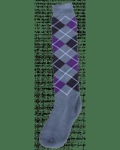 Excellent Knee socks RE gray / black / purple 43-46