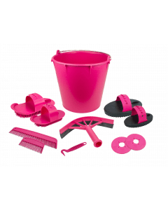 Vplast Cleaning set of 10 items in bucket navy blue