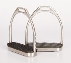 Harry's Horse Fillis stirrups brushed stainless steel with crystals 12cm