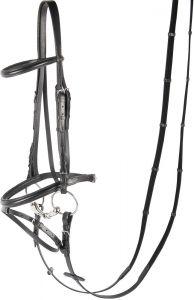 Harry's Horse Bridle Bronze, black bridoonded