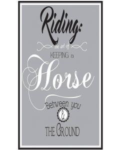 QHP Text Sign 'Riding ...'