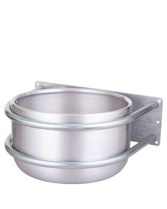 Petting bowl Peetz around alu wall mount 15ltr
