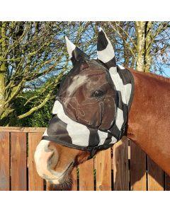 Bucas Buzz-Off Zebra Deluxe Mask with Ears