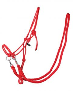 QHP Rope halter with reins