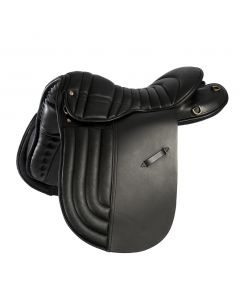 Icelandic sheepskin saddle pad with ribbed seat