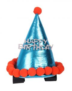 QHP Birthday hat horse Sky