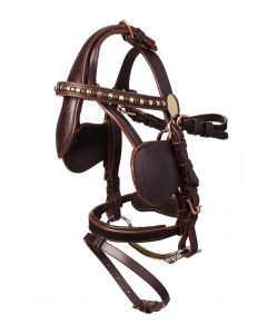 MHS Luxury Leather Driving Bridle