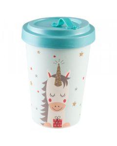 PFIFF Coffee to Go cup 'DREAMING UNICORN' bamboo