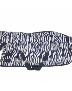 Harry's Horse Flysheet mesh with neck and surcingles, zebra medival blue