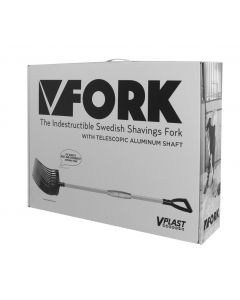 Hofman Vplast Plastic manure fork with aluminum handle in a box