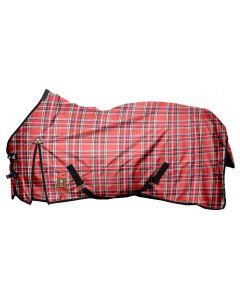 "MHS Rain rug with fleece ""Red Blocks"""