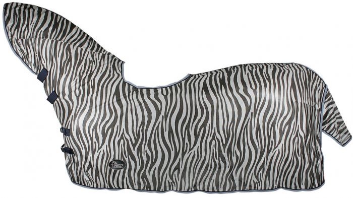 Harry's Horse Fly sheet mesh, neck and saddle recess, zebra grey