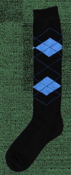 Excellent Knee socks RE black / light blue 43-46