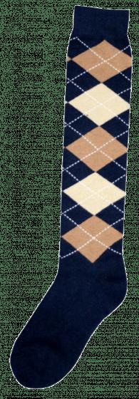 Excellent Knee socks RE d.blue / l.brown / beige 43-46